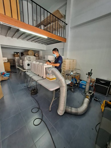 Filter Installation Scan Leak Test (Overall/Total) for Air Cleanner (เครื่องฟอกอากาศ) , AHU (Air Handing Unit), Exhaust Air Unit